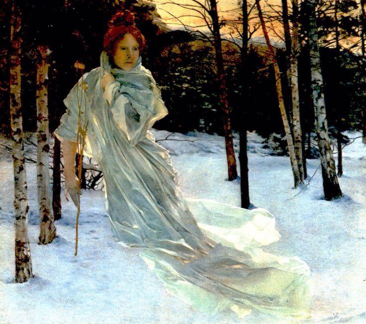'Zima 1901 (Winter) Vojtěch Hynais  (1854-1925)