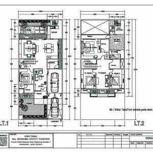577+ denah rumah minimalis 2 lantai type 90   autocad