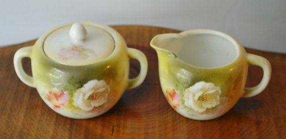 Check out this item in my Etsy shop https://www.etsy.com/ca/listing/461910840/floral-cream-and-sugar-made-in-germany