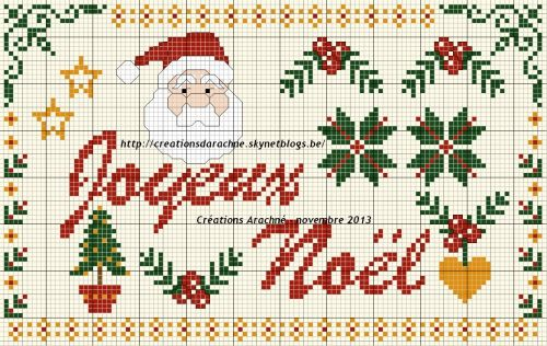 noël - christmas - joyeux noël - point de croix - cross stitch - Blog : http://broderiemimie44.canalblog.com/