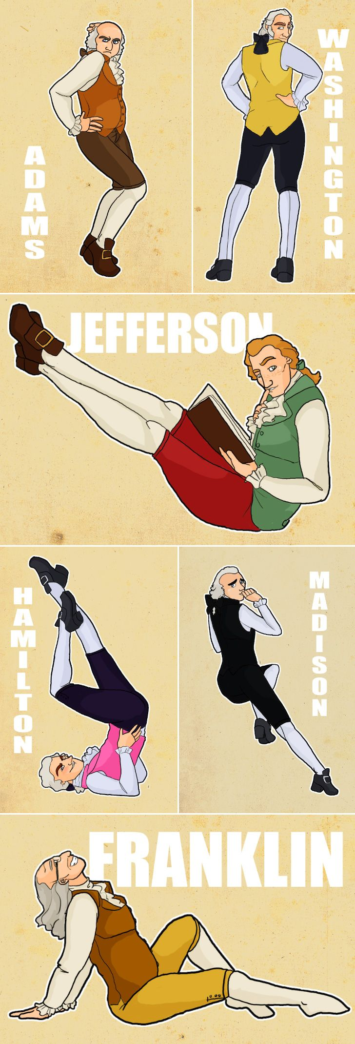 Founding father pin-ups -- strangely I find this quite hilarious! Like & Repin. Noelito Flow. Noel http://www.instagram.com/noelitoflow