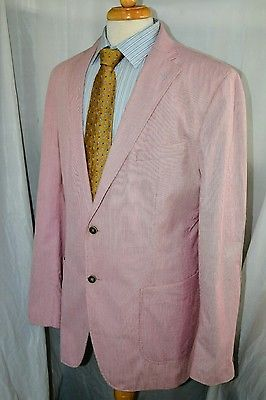 Marks & Spencer, Blue Harbour Cotton Unstructured Sport Coat Blazer 44L Jacket