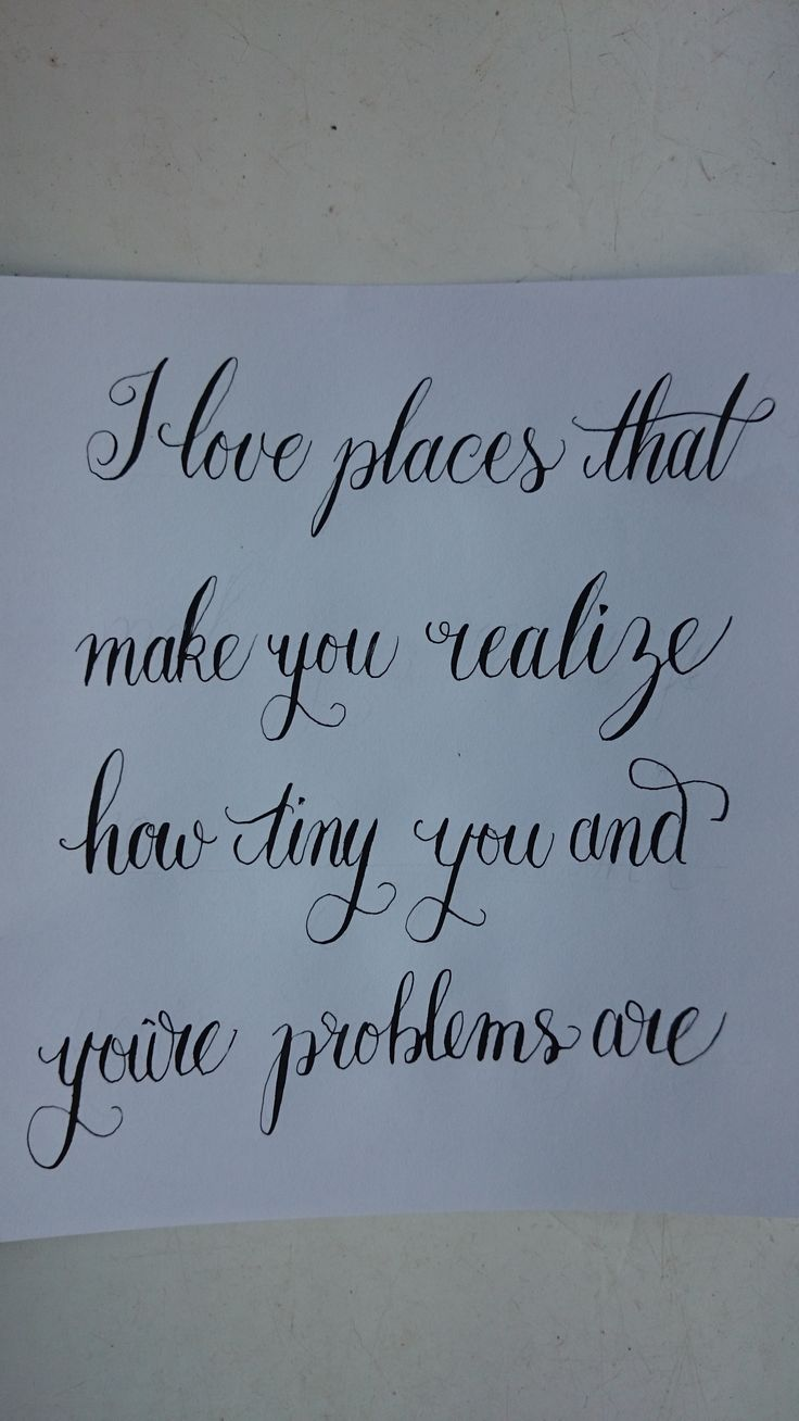 A nice quote with curly modern calligraphy