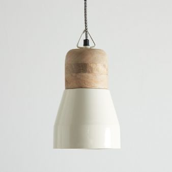 White And Natural Wood Pendant Light: Remodelista