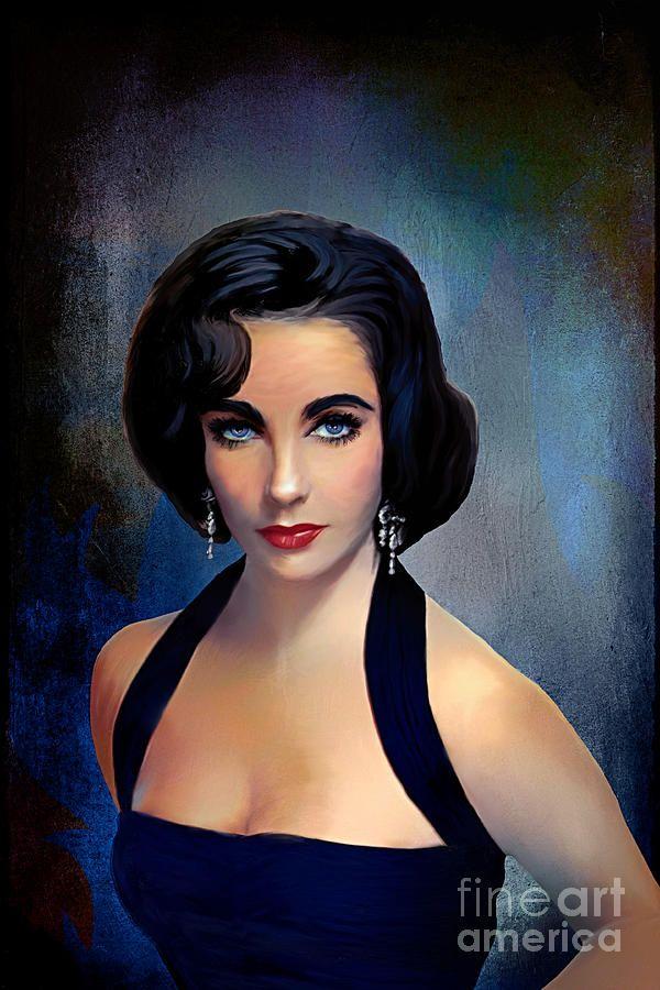 Elizabeth Taylor : Elizabeth Taylor Painting by Andrzej Szczerski ...