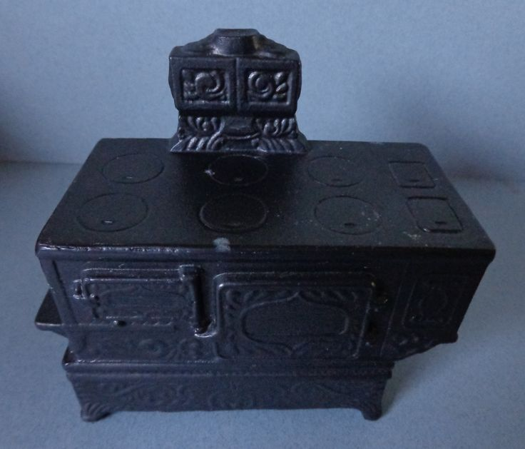 Vintage Banthrico Victorian design Stove metal Piggy Bank 1974 Chicago ILL by RocktheJewels on Etsy