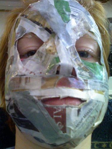 Best 25 paper mache mask ideas on pinterest paper mache crafts paper mache animals and mask - Masque papier mache ...