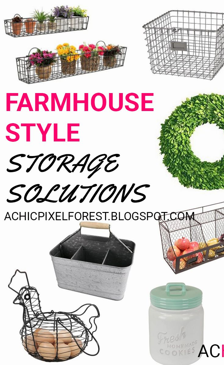 In this post I'll share farmhouse style storage solutions that will add style to…