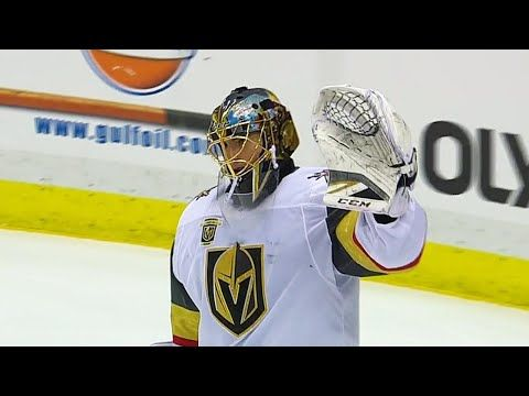 Marc-Andre Fleury gets standing ovation after tribute from Pittsburgh Penguins - YouTube