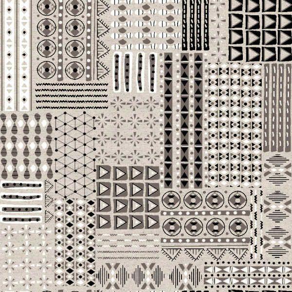 Printed linen Canvas | Ethnic – KILOtela
