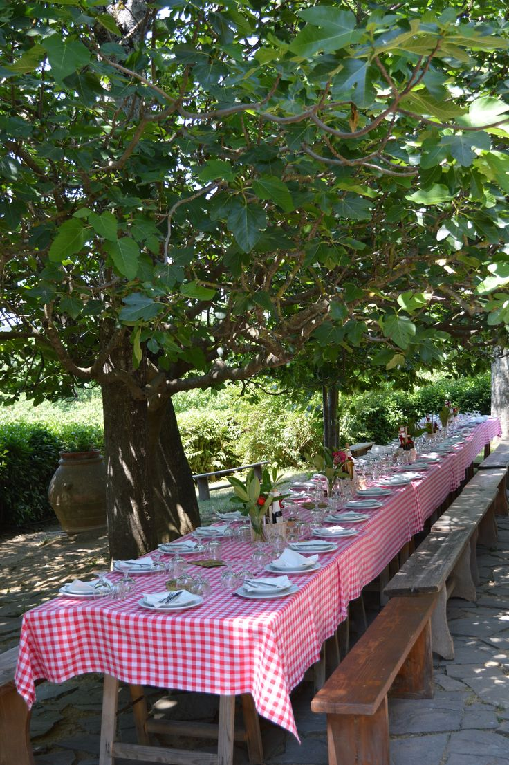 Fattoria la Vialla, Tuscany, Italy This my be in Italy ... But we could do this here in a park or backyard.