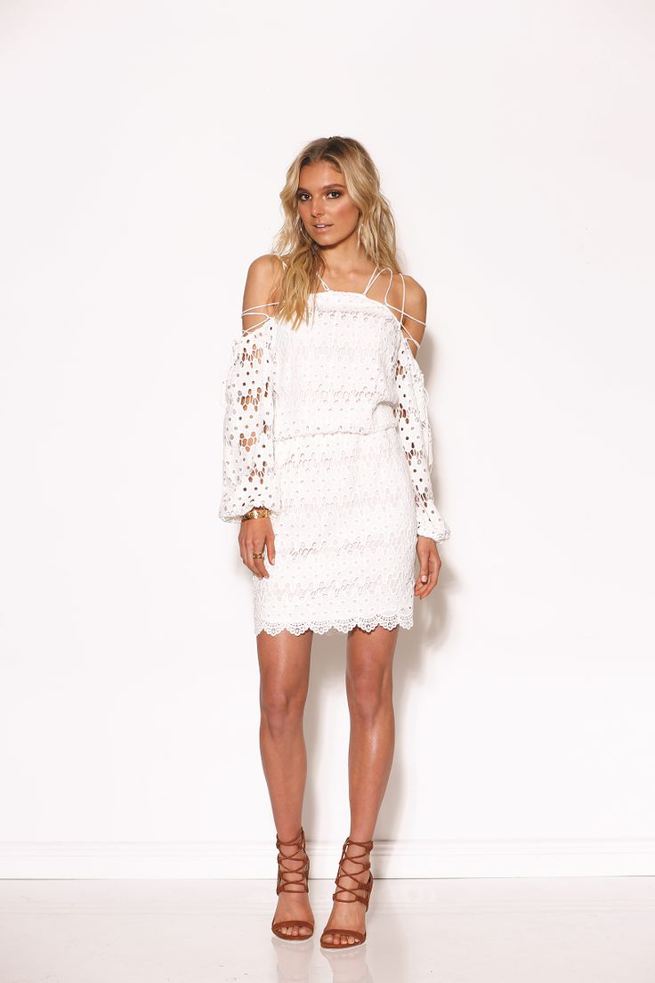 Ministry of Style - Lace Up Dress Ivory