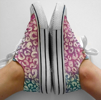 : Diy Shoes, Dyes Leopards, Ties Dyes, Leopards Prints, Ties Dyed, Dyes Shoes, Leopards Spots, Birthday Jen, Spots Shoes