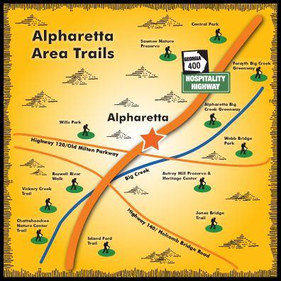 #Alpharetta has 13 trails within 20 miles! Grab those #hiking shoes and head on over!