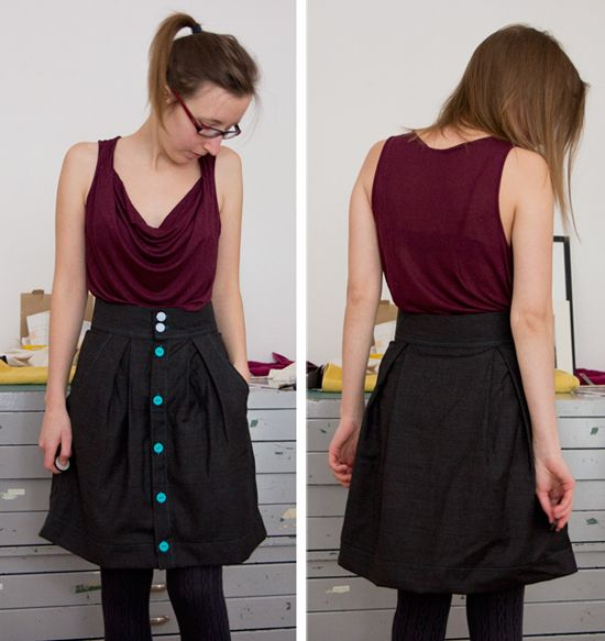 Sew and Illustrate: Kelly Skirt Finished