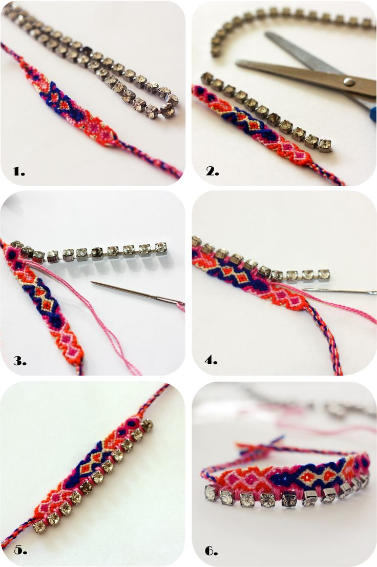 Find This Pin And More On Diy Bracelets Diy Friendship Bracelet With  Rhinestones