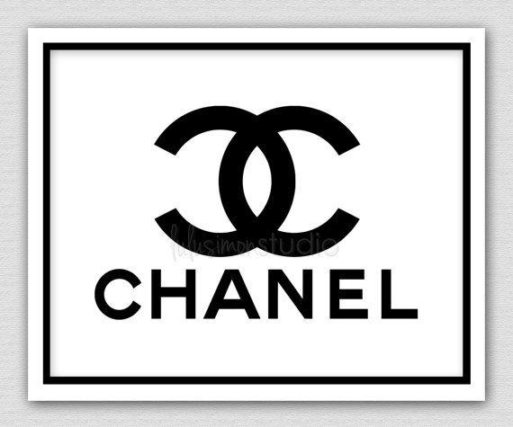 8 x 10 Wall Decor Print, Modern Home Decor, Chanel Art-Chanel Shopping Bag Print on Etsy, $15.00