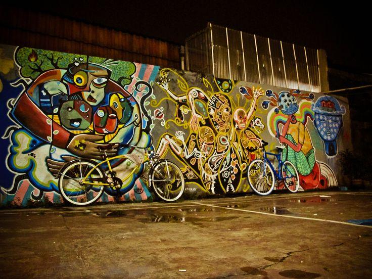 "in exhibition ""battlefiled""  jakarta   #streetart #mural #exhibition #visualart"