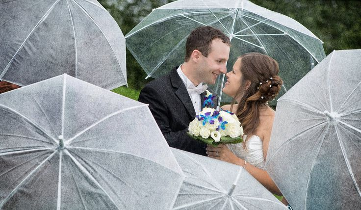 wedding, rainy wedding, mariage sous la pluie