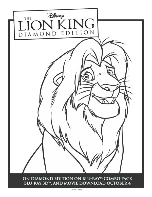 41 best images about coloring pages the lion king on pinterest coloring simba and nala and. Black Bedroom Furniture Sets. Home Design Ideas
