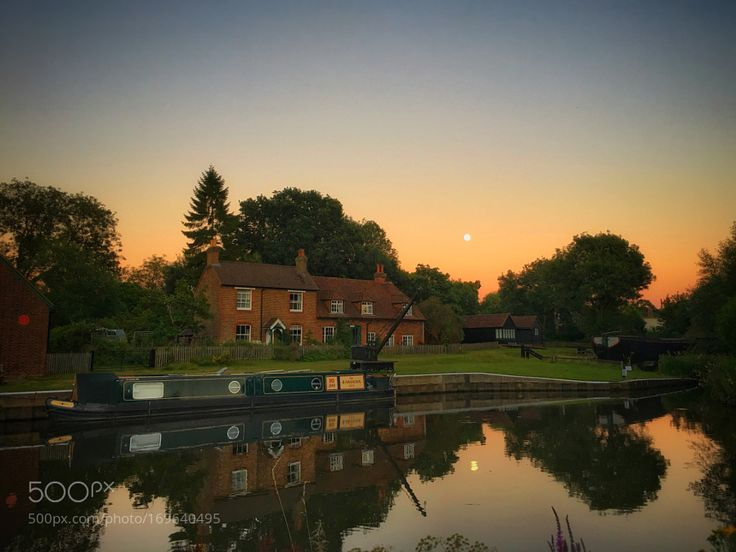 Reflections of a Summer evening - Dapdune Wharf on a Summer's evening by af8