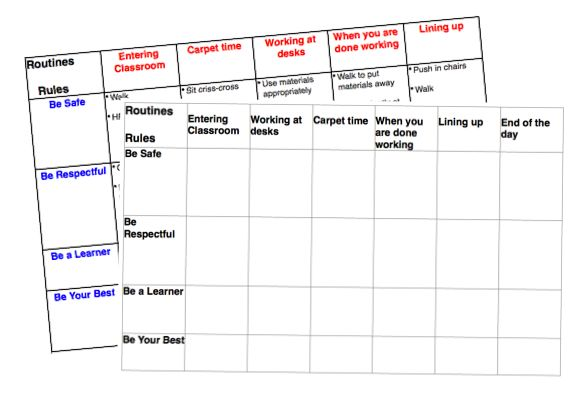 Using a Management Matrix to Develop and Set Clear Expectations - Download your own to modify