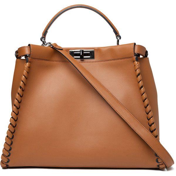 Fendi Large Fashion Show Peekaboo (£3,780) ❤ liked on Polyvore featuring bags, handbags, shoulder bags, borse, purses, kirna zabete, top handles, beige shoulder bag, handbags purses and fendi purses