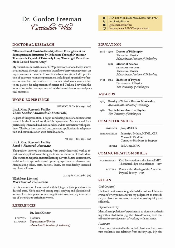 30 format for Curriculum Vitae in 2020 One page resume