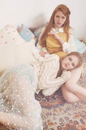 titty&Co.フラワー刺繍チュールスカート