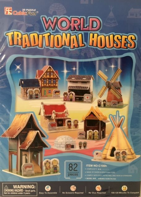 *World Traditional Houses 3D puzzle