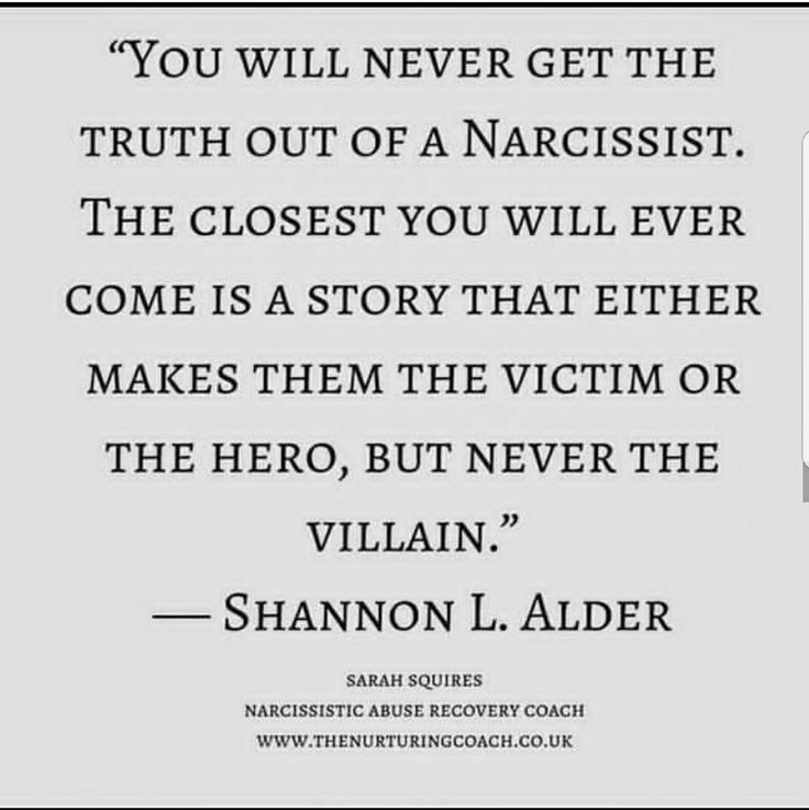 Narcs do no wrong. They are delusional and no matter what they do. They are never the problem.