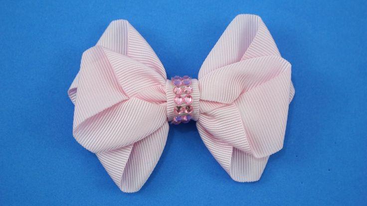 Passo a passo: Laço de fita de gorgurão/ DIY Grosgrain ribbon bow