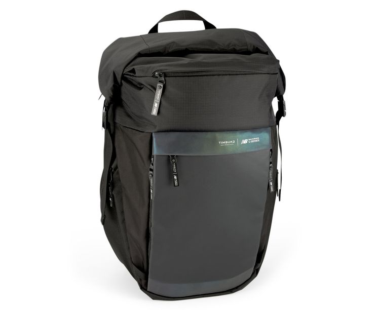 A futuristic device-friendly backpack designed in partnership with New Balance for living, working, and cycling in the city.
