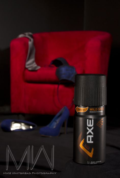 Commercially inspired shot with AXE's them