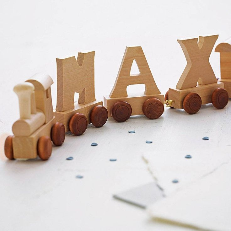 Wooden Train 4 Letters