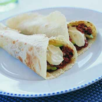 South american-style pork mince wraps