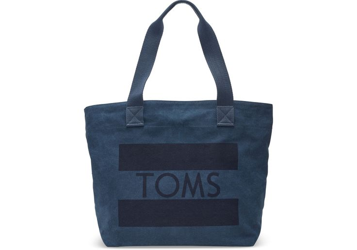 TOMS - Navy TOMS Flag Transport Tote Bag