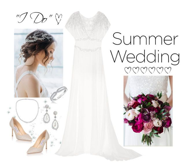 """Say ""I Do"""" by kryssicha on Polyvore featuring Temperley London, Karl Lagerfeld and Jimmy Choo"