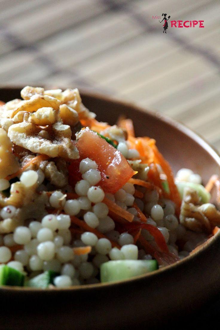 Salade froide de couscous israélien - Miss-Recipe.com