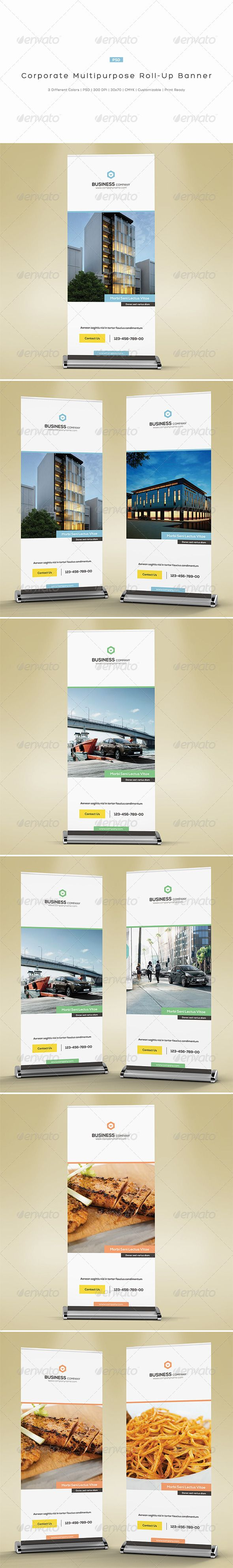 Corporate Multipurpose Roll-Up Banner