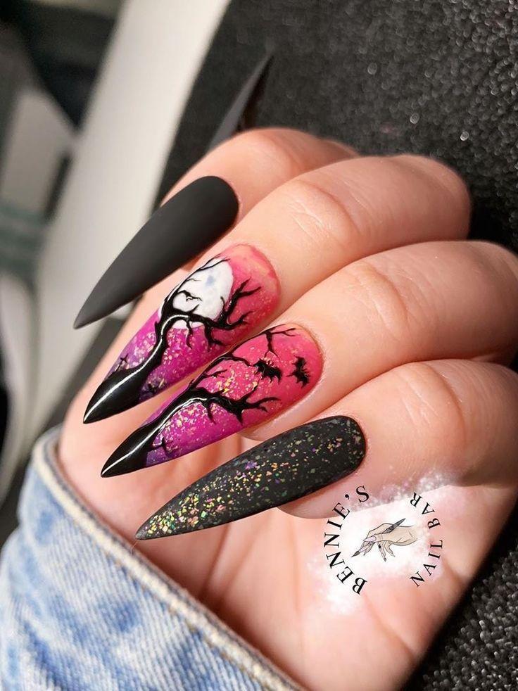 60+ Halloween Nail Art Ideas | Halloween nails, Cotton ...
