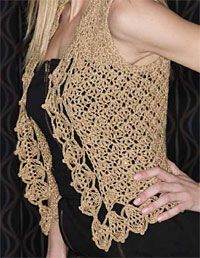 DIY Style: Kylara Crochet Vest pattern.... very cute!