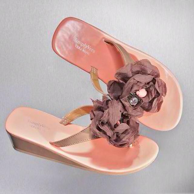 Floral Wedges, Wedge Flip Flops