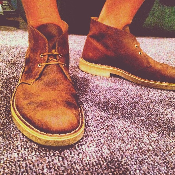 Clarks Desert Boots and shorts Instagram photo by @brobinson7