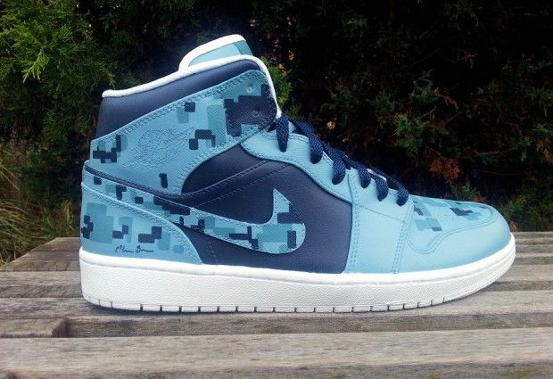 """Air Jordan 1 """"Blue Digital"""" Custom"""
