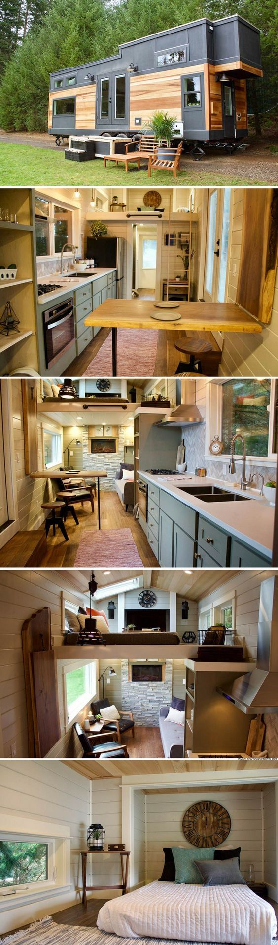 2181 best Tiny House images on Pinterest | Tiny homes, Little ... On Wheels Tiny House Designs B E A on