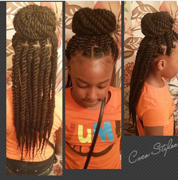 Hairstyles For Black Little Girls so adorable christyanaking httpsblackhairinformationcomhairstyle gallery kid hairstylesblack kids Black Kids Twists