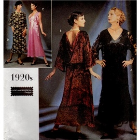 Simplicity 8739 Flapper Dress Roaring 20s Costume PATTERN ...