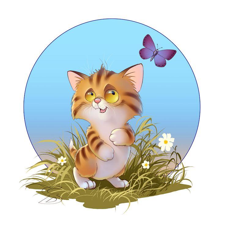 #art #characterdesigne #cartoon #drawing #digitalart #painting #illustration #conceptart #иллюстрация #рисунок #kitten