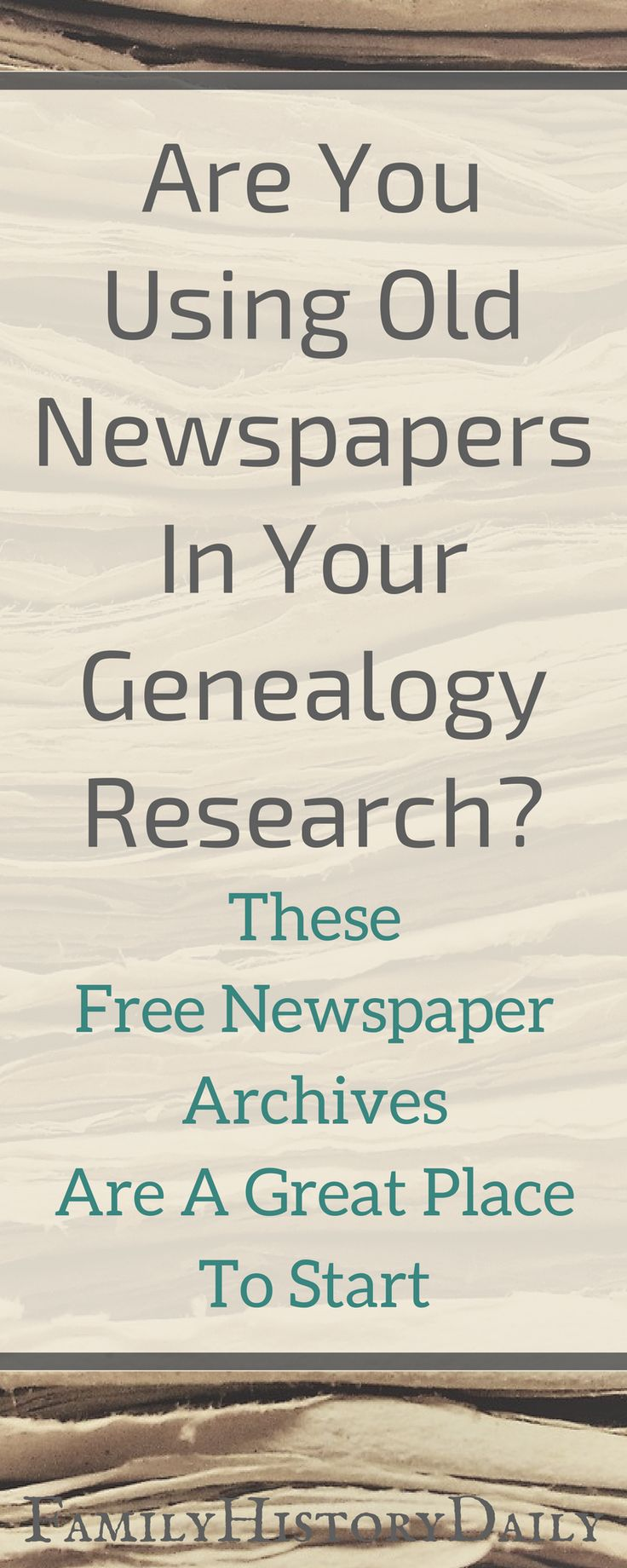 Free newspaper archives can be a powerful genealogy research tool. #genealogyresearch #freegenealogy #ancestry #familyhistory